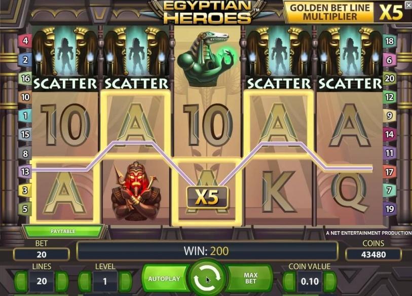 egyptian heroes spielautomat